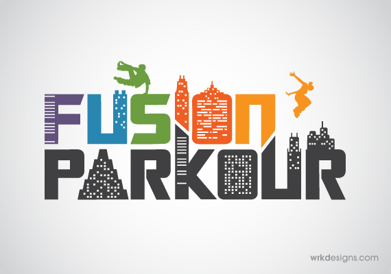 Fusion Parkour Logo Design - WRKDesigns