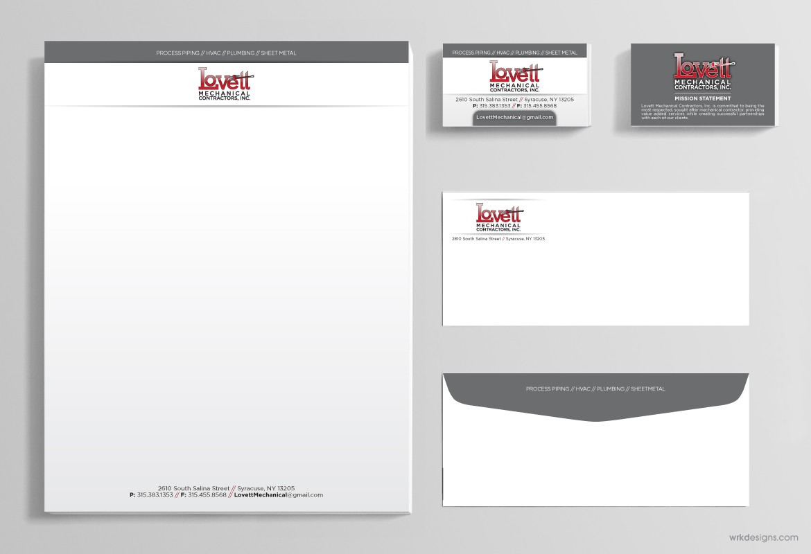 business stationery lovett wrkdesigns
