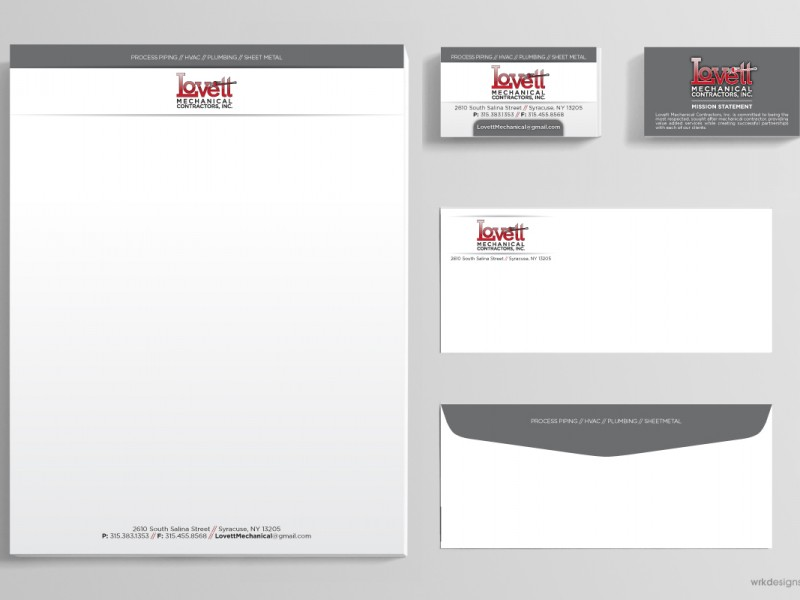 Business Stationery: Lovett