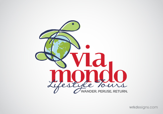 Via Mondo Logo Design - WRKDesigns