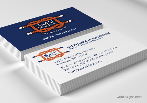 SMV Recruiting Business Card Design - WRKDesigns
